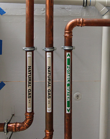 Gas & Water Pipe Install